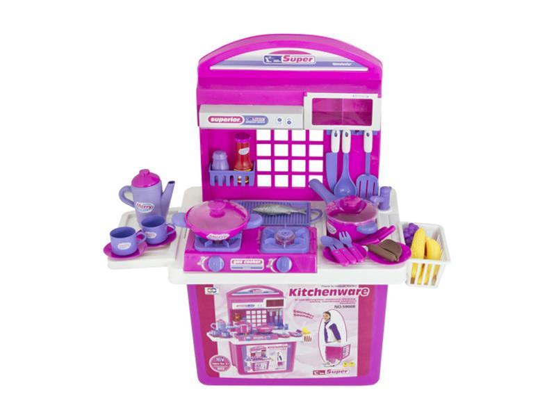 Dětská kuchyňka G21 s příslušenstvím PINK