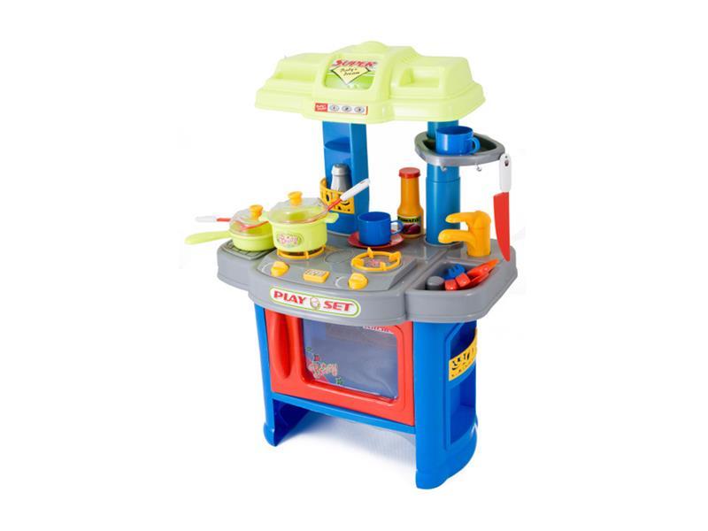 Dětská kuchyňka G21 s příslušenstvím BLUE