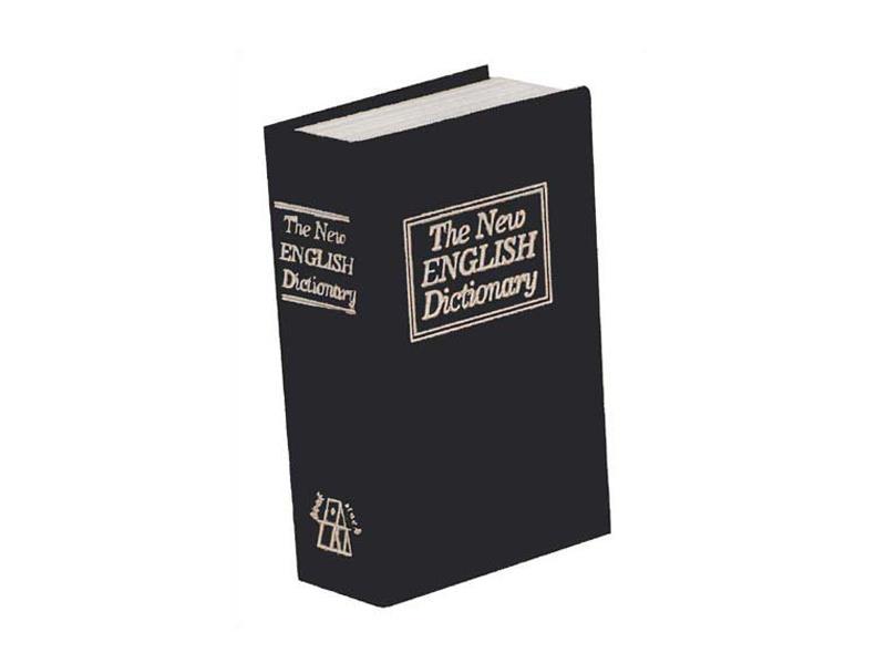 Trezor kniha 180 x 115 x 54 mm černá