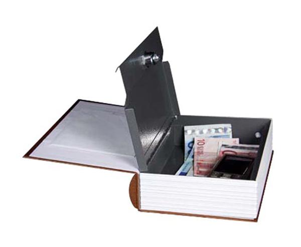 Trezor kniha 240 x 165 x 55 mm hnědá