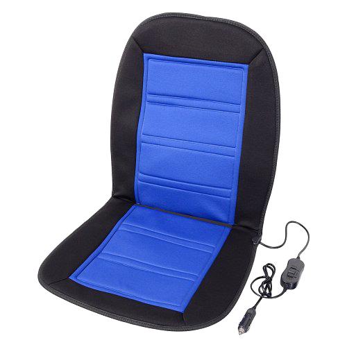 Vyhřívaný potah sedadla s termostatem 12V LADDER modrý