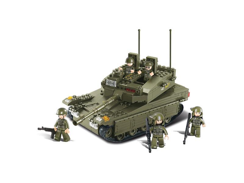 Sluban ARMY Merkava vojenský tank set 344 dílků
