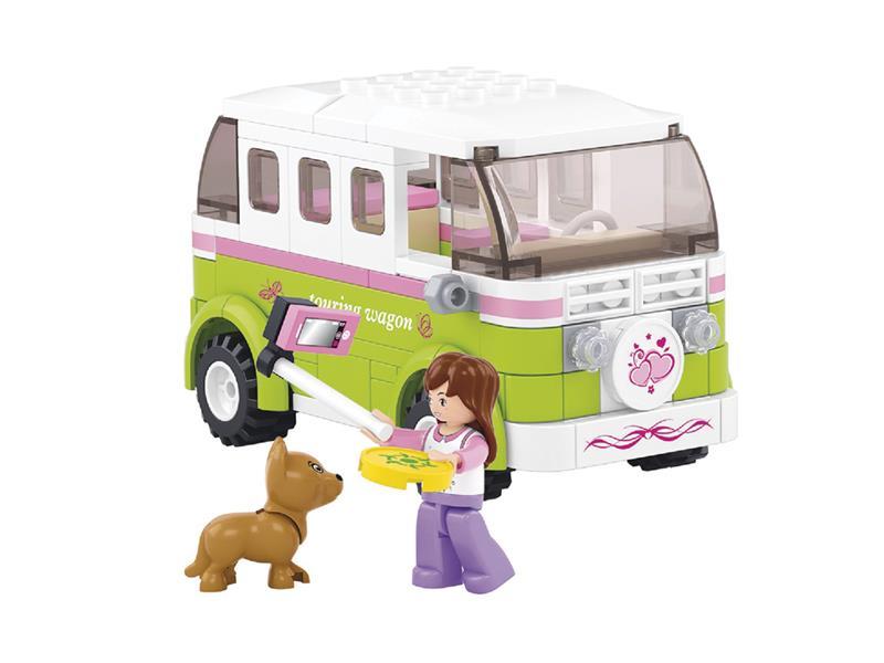 Sluban GIRLS obytný mini bus set 158 dílků