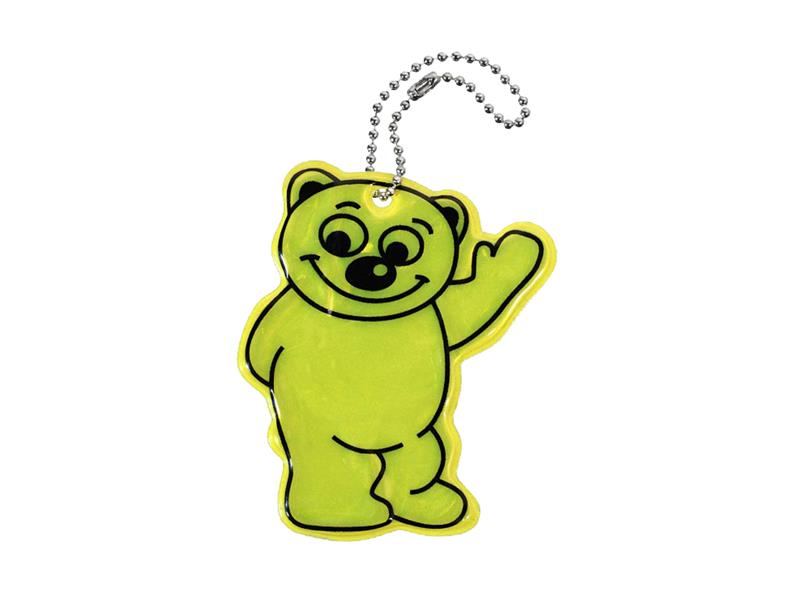 Reflexní přívěšek BEAR žlutý COMPASS 01723