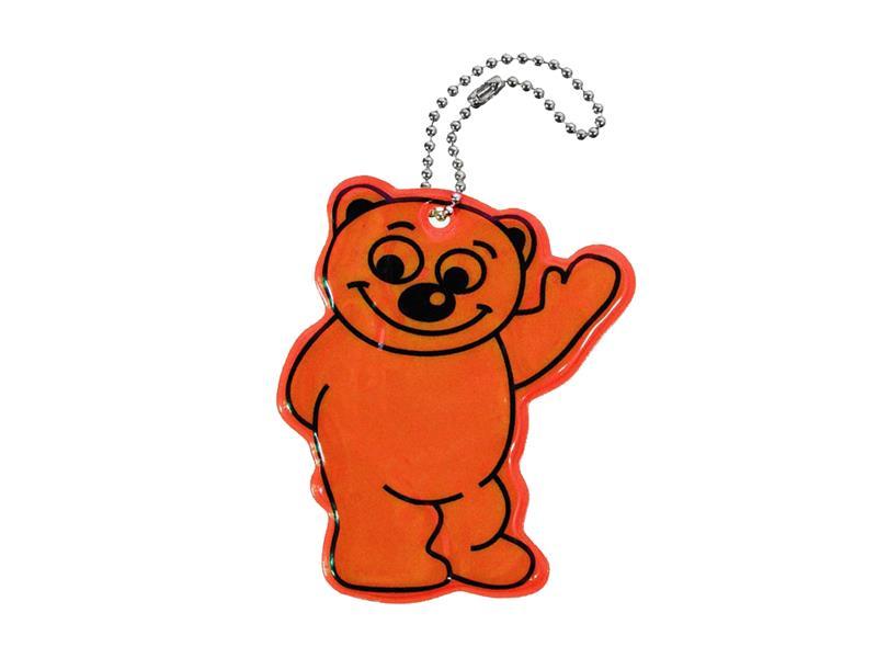 Reflexní přívěšek BEAR - oranžový
