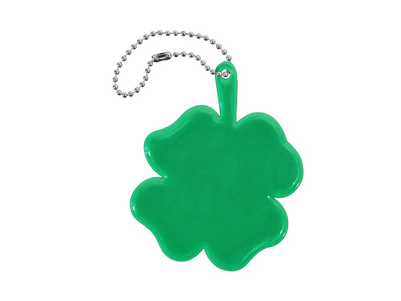 Reflexní přívěšek ČTYŘLÍSTEK zelený