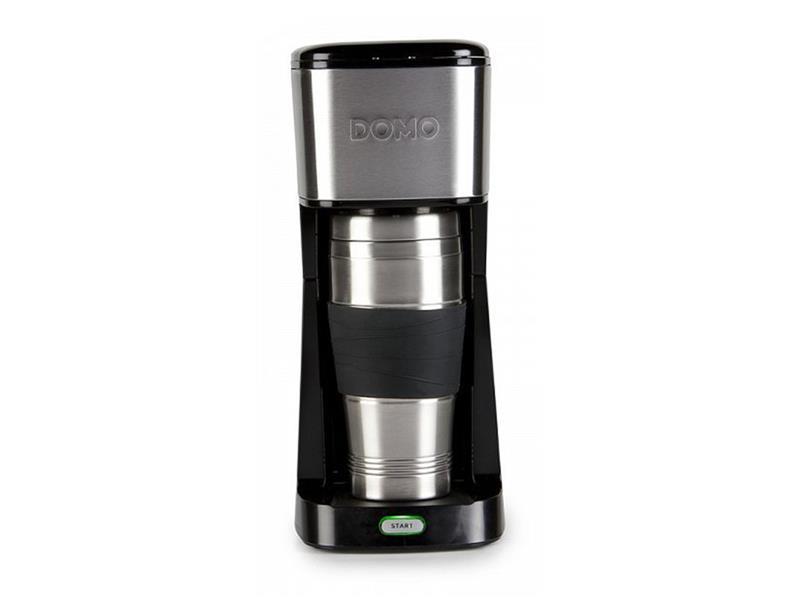 Kávovar s termohrnkem - černý - DOMO DO437K