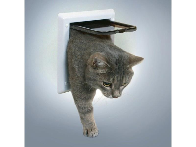 Trixie Průchozí dvířka FreeCat DeLuxe 21x21 cm bílá
