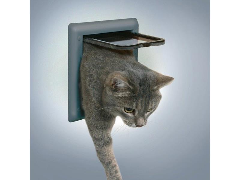 Trixie Průchozí dvířka FreeCat DeLuxe 21x21 cm šedá