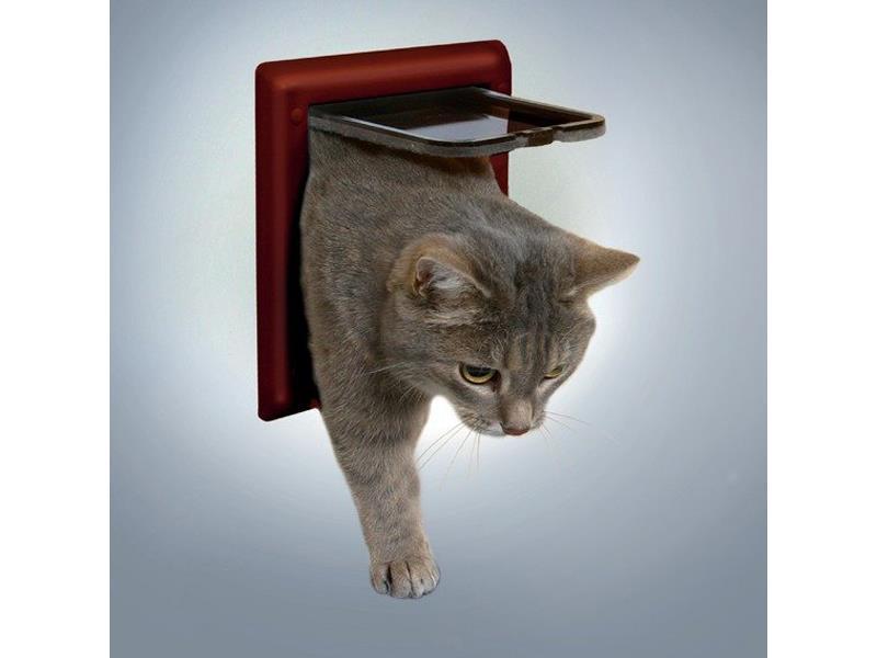 Trixie Průchozí dvířka FreeCat DeLuxe 21x21 cm hnědá