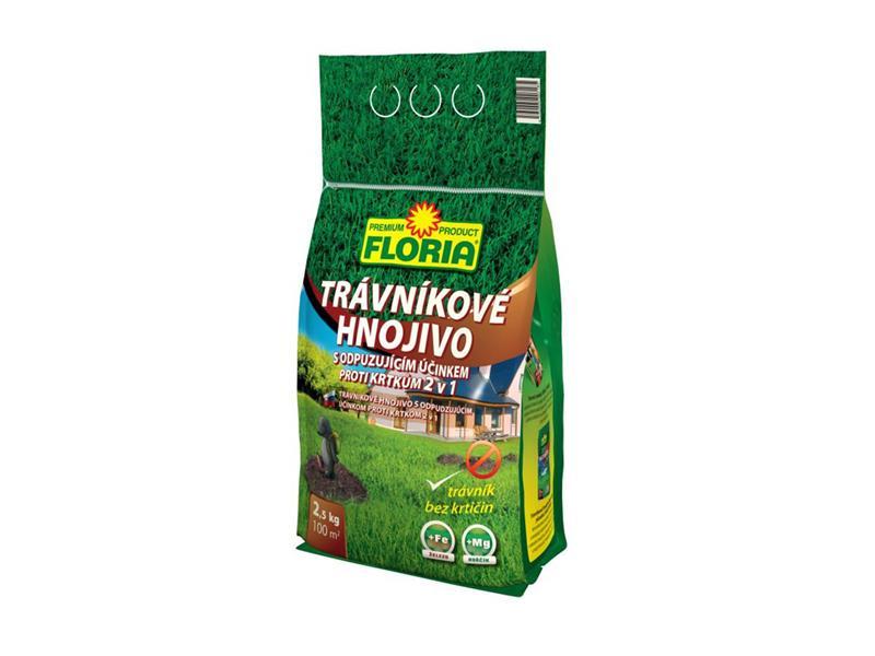 Hnojivo trávníkové FLORIA 2.5 kg KRTEK