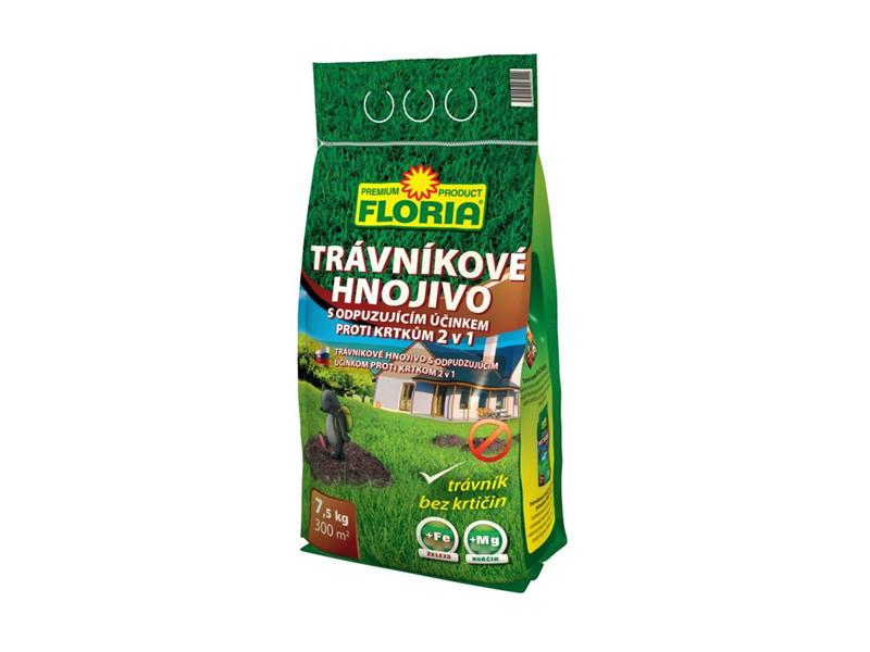 Agro FLORIA Trávníkové hnojivo s odpuzujícím účinkem proti krtkům 7,5kg
