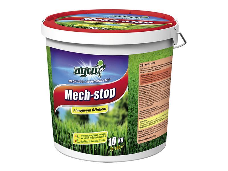 Hnojivo trávníkové AGRO MECH STOP 10 kg kbelík