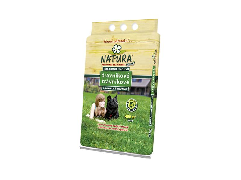 Hnojivo trávníkové NATURA organické 8 kg