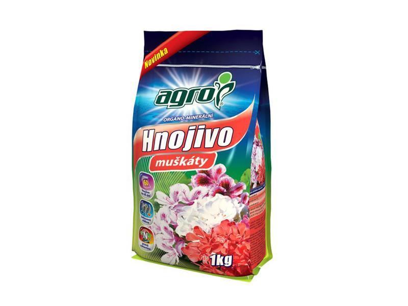 Hnojivo organominerální AGRO pro muškáty 1 kg