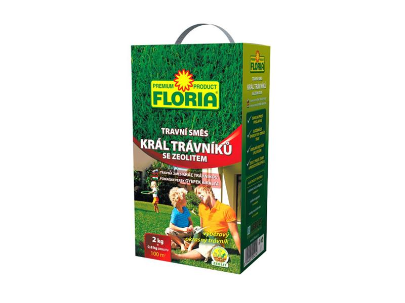 Směs travní FLORIA Král trávníků 2 kg + 800 g zeolit