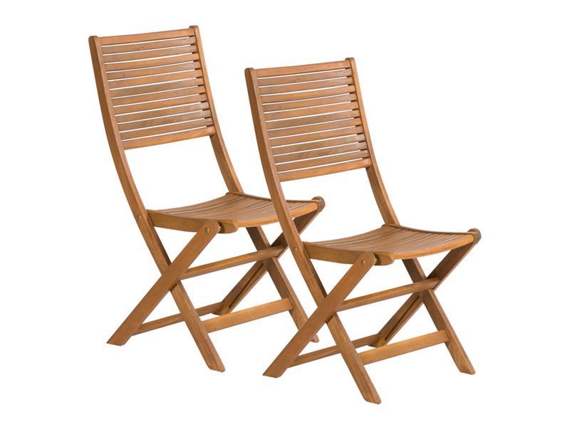 Nábytek zahradní židle 2 ks FIELDMANN FDZN 4012-T skládací