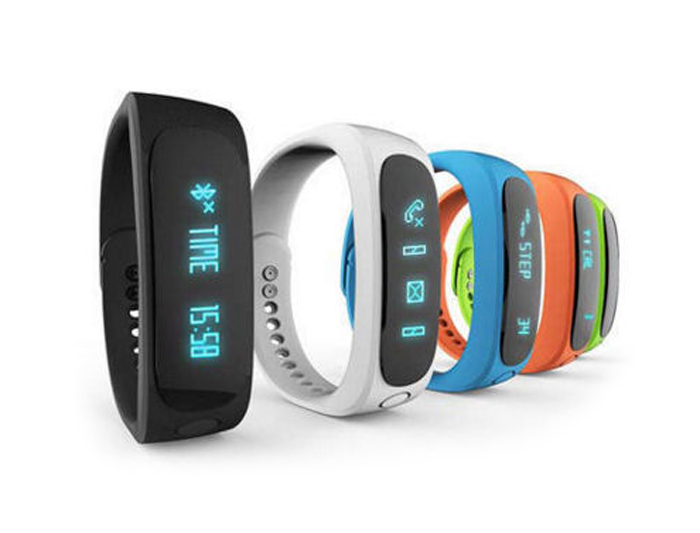 Fitness náramek FT02, OLED, Bluetooth 4.0, Android+iOS modrá