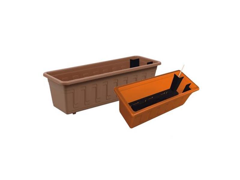 PLASTKON Samozavlažovací truhlík Garden Flor 100cm terakota