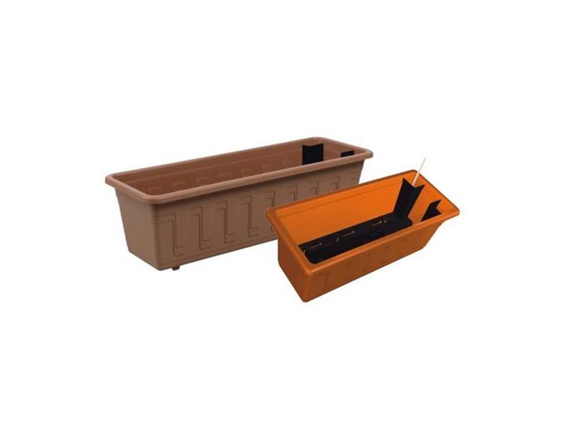 Plastkon Samozavlažovací truhlík GARDEN FLOR 60cm terakota