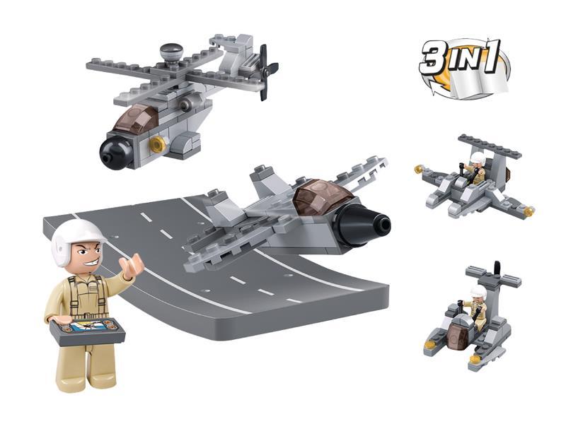Stavebnice SLUBAN ARMY DRONY 3v1 M38-B0537H