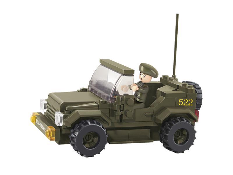 Stavebnice SLUBAN ARMY DŽÍP M38-B0296