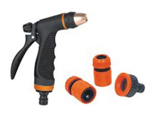 Pistole stříkací, 2x spojka, 1x adaptér 256511