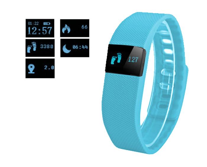 Fitness FT64 Bluetooth 4.0, Android+iOS modrá