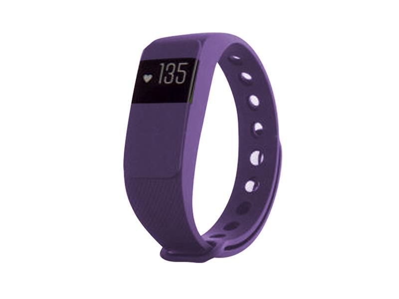 Fitness náramek s měřením tepu FT64S OLED, Bluetooth 4.0, Android+iOS fialová