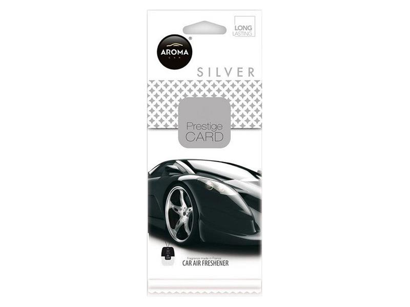 Osvěžovač Aroma CAR CITY CARD SILVER