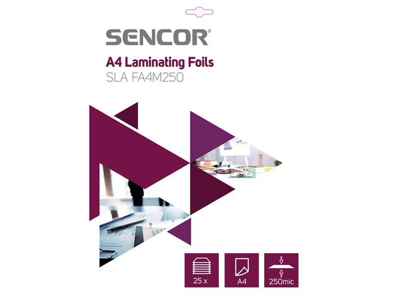 Fólie laminovací SENCOR SLA FA4M250 A4 250mic 25ks