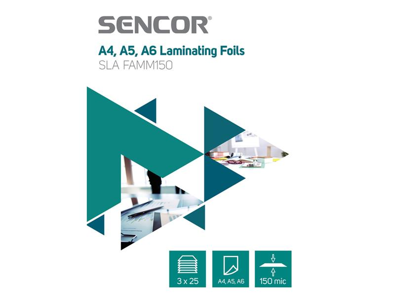 Fólie laminovací SENCOR SLA FAMM150 A4 150mic 75ks