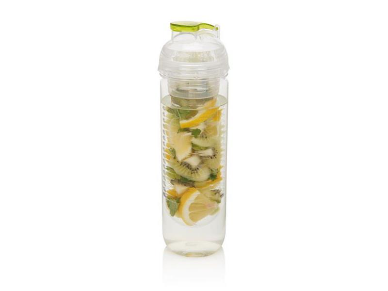 Loooqs, 500 ml láhev s košíkem na ovoce, zelená