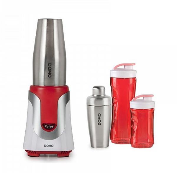 Mixér DOMO DO449BL stolní Smoothie - červený  + koktejl shaker