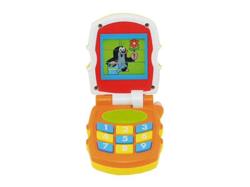 Telefon dětský TEDDIES KRTEČEK se zvukem a světlem