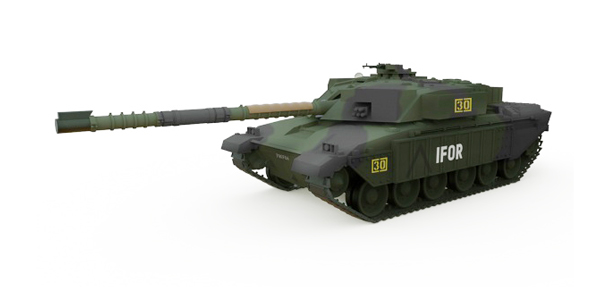 WALTERSONS RC model TANK BRITISH CHALLENGER 1 FOREST