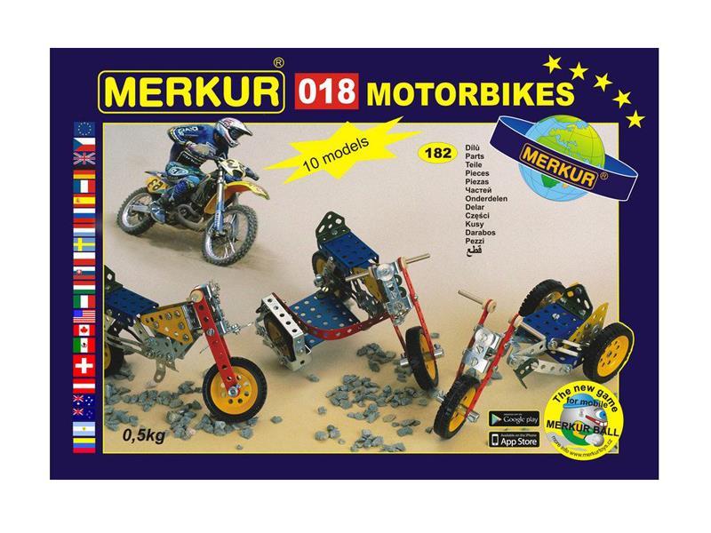 Stavebnice MERKUR 018 MOTOCYKLY