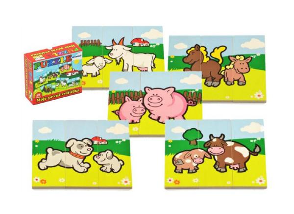 Dětské puzzle TEDDIES Moje první zvířátka dřevěné 18ks