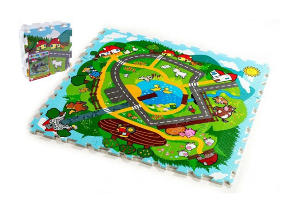 Dětské puzzle TEDDIES Moje první zvířátka město pěnové 9ks