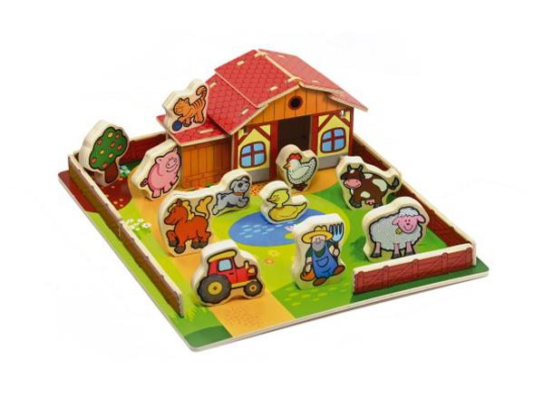 Domeček MOJE PRVNÍ ZVÍŘÁTKA dřevěná farma