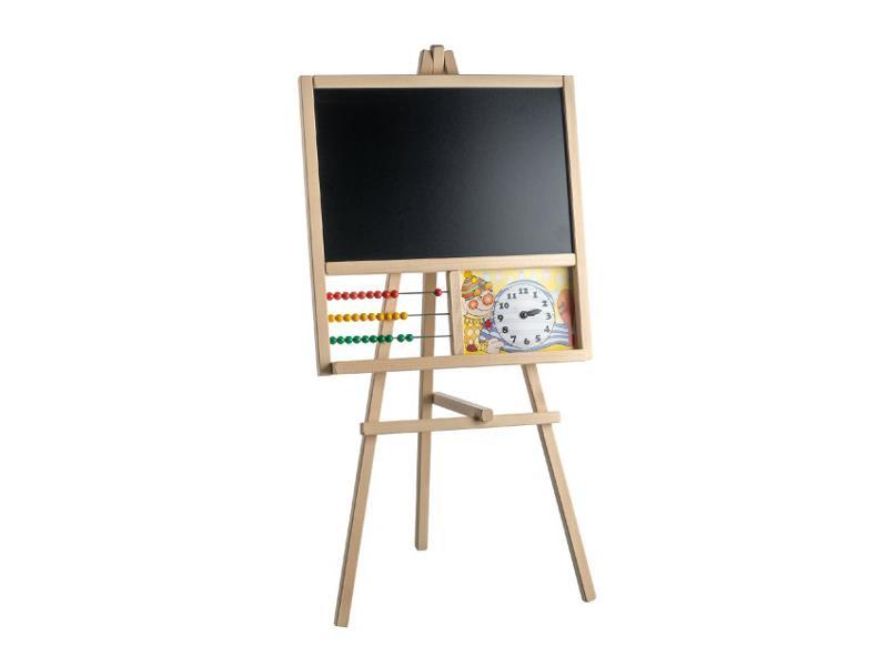 Dětská stojanová tabule TEDDIES s počítadlem dřevěná