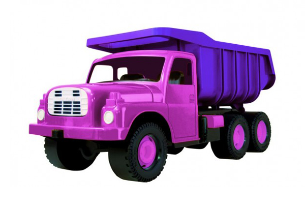 Dětské nákladní auto DINO TATRA 148 PINK 73 cm