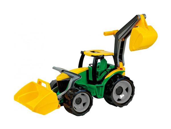 Traktor LENA se lžící a bagrem 65 cm zelená