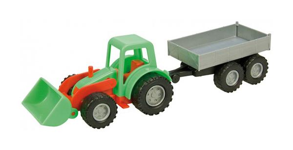 Dětský traktor s přívěsem LENA MINI COMPACT 24 cm