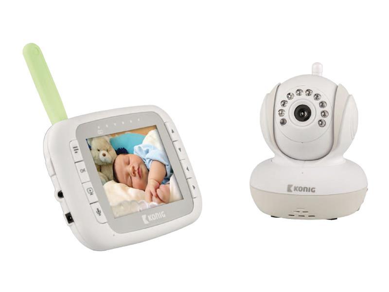 "Chůvička dětská IP WiFi LCD 3.5"" KÖNIG KN-BM80"