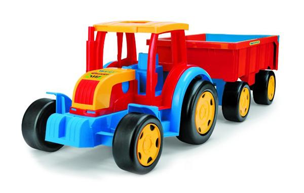 Dětský traktor s přívěsem WADER GIGANT 102 cm