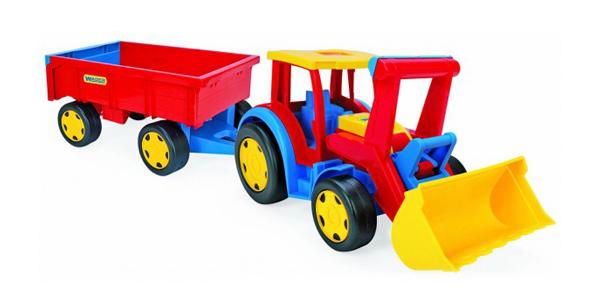 Wader Traktor nakladač gigant s vlečkou 66300