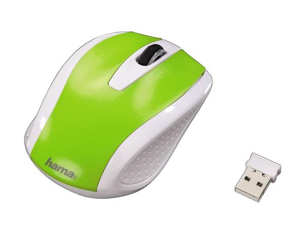 Myš HAMA AM-7200 bezdrátová zelená