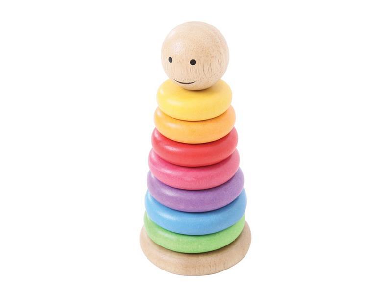 Dětská vzdělávací hra BIGJIGS TOYS Duhový panáček dřevěná