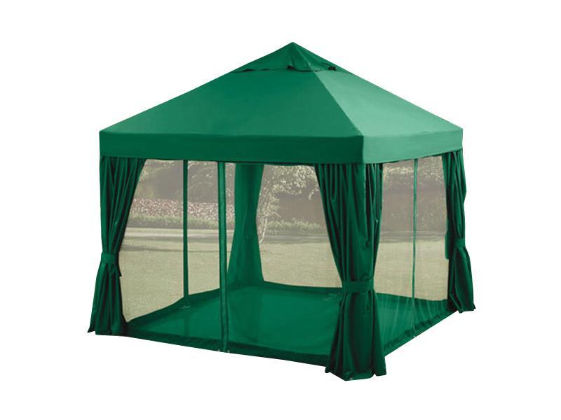Master Grillparty Pavilón zahradní 3 x 3 m, zelený, bočnice, moskytiéry